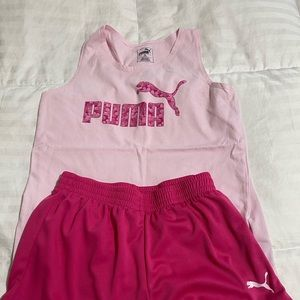 EUC Puma 2 piece short set Size Large 10